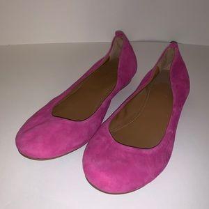 Pink Suede JCrew Flats